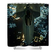 Air To Air Refueling At Night Shower Curtain