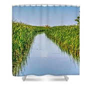 Airboat On The Mobile Delta Shower Curtain