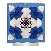 Airborne Quilt Shower Curtain