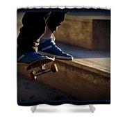 Airborne Skateboarder Shower Curtain
