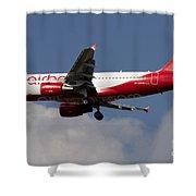 Airbus A320 Of Air Berlin Shower Curtain