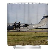 Airbus A400m For The French Air Force Shower Curtain