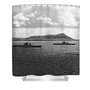 Aircraft Carriers In Hawaii Shower Curtain