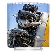 Aircraft Engine 3 Shower Curtain