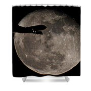 Aircraft Silhouette Shower Curtain