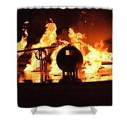 Airforce Fire Deparment Training Shower Curtain