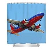 Airliner Landing At Sky Harbor Phoenix Arizona Shower Curtain