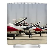 Airmen Conduct Preflight Preparations Shower Curtain by Stocktrek Images