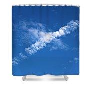 Airplane Cloud Shower Curtain