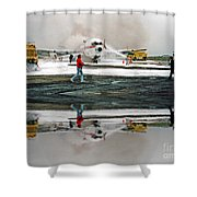 Airplane Crash Drill Landscape Altered Version Shower Curtain