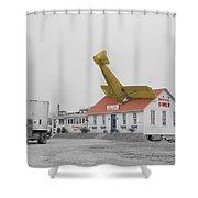 Airplane Diner Shower Curtain