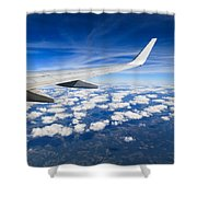 Airplane Wing Shower Curtain