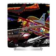 Airplanes Collage  Shower Curtain