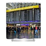 Airport Departure Board Frankfurt Germany Shower Curtain