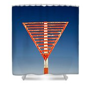 Airport Sign Shower Curtain