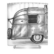 Airstream Vacation Shower Curtain