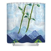 Airy Two Of Wands Shower Curtain