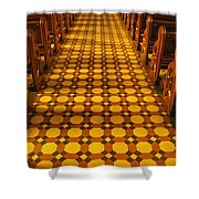 Church Aisle Patterned Floor Shower Curtain