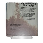 Aiton Heights Fire Tower Shower Curtain