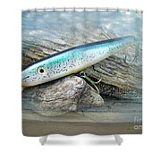 Ajs Baby Weakfish Saltwater Swimmer Fishing Lure Shower Curtain