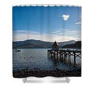 Akaroa Harbour  Shower Curtain