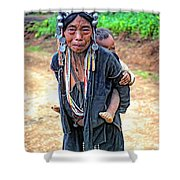 Akha Tribe Shower Curtain