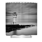 Akranes Lighthouse Shower Curtain