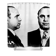Al Capone Mug Shot Shower Curtain by Edward Fielding