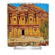 Al-dayr Or The Monastery In Petra-jordan  Shower Curtain
