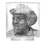 Cowboy Al Holman  Shower Curtain