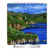 Al Mafi Coast Italy Shower Curtain