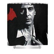 Al Pacino  Shower Curtain by Luis Ludzska