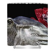 Alabama Football Mascot Shower Curtain by Kathy Clark