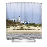 Alabama - Gulf Of Mexico Shrimper - Beautiful Day For Fishing Shower Curtain