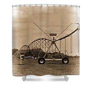 Alabama Irrigation System Vignette Shower Curtain