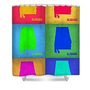 Alabama Pop Art Map 1 Shower Curtain