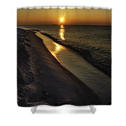 Alabama Sea Cliffs Shower Curtain