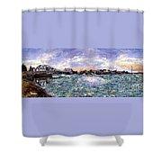 Alameda High Street Bridge  Shower Curtain
