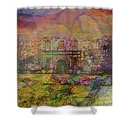 Alamo After The Fall - Square Version Shower Curtain