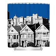 Alamo Square -  Royal Blue Shower Curtain