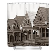 Alamo Square - Victorian Painted Ladies 2009 Shower Curtain