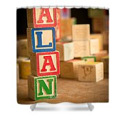Alan - Alphabet Blocks Shower Curtain