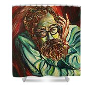 Alan Ginsberg Poet Philosopher Shower Curtain