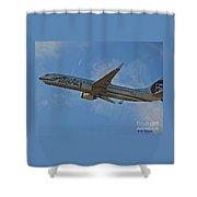 Alaska Air Up And Away Shower Curtain
