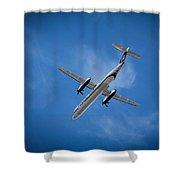Alaska Airlines Turboprop Shower Curtain