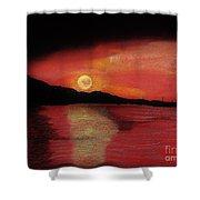 Alaska Sunset Bay Shower Curtain
