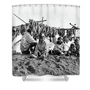Alaska Drying Fish, C1900 Shower Curtain