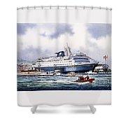 Alaska Ferry Shower Curtain
