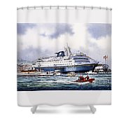 Alaska Ferry Shower Curtain