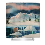 Alaska Panorama Shower Curtain by Teresa Ascone
